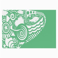 Fish Star Green Large Glasses Cloth (2 Side) by Alisyart