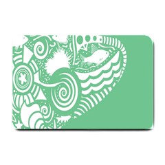 Fish Star Green Small Doormat  by Alisyart