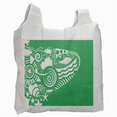 Fish Star Green Recycle Bag (one Side) by Alisyart
