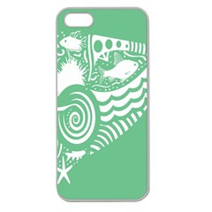 Fish Star Green Apple Seamless Iphone 5 Case (clear) by Alisyart