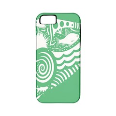 Fish Star Green Apple Iphone 5 Classic Hardshell Case (pc+silicone)