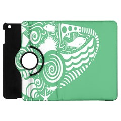 Fish Star Green Apple Ipad Mini Flip 360 Case