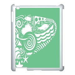 Fish Star Green Apple Ipad 3/4 Case (white) by Alisyart
