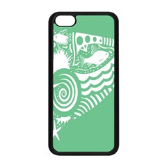 Fish Star Green Apple Iphone 5c Seamless Case (black) by Alisyart
