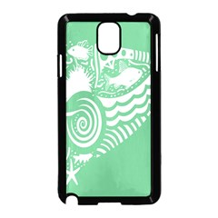 Fish Star Green Samsung Galaxy Note 3 Neo Hardshell Case (black)