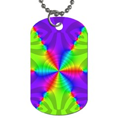 Complex Beauties Color Line Tie Purple Green Light Dog Tag (one Side) by Alisyart
