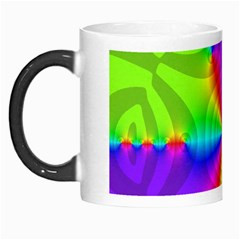 Complex Beauties Color Line Tie Purple Green Light Morph Mugs by Alisyart