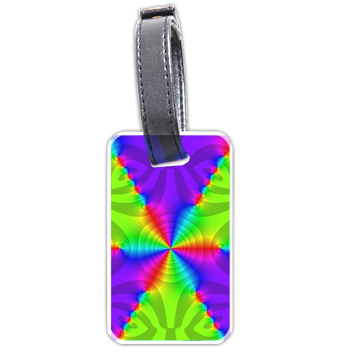 Complex Beauties Color Line Tie Purple Green Light Luggage Tags (One Side)