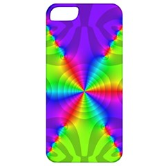 Complex Beauties Color Line Tie Purple Green Light Apple Iphone 5 Classic Hardshell Case by Alisyart