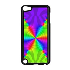Complex Beauties Color Line Tie Purple Green Light Apple Ipod Touch 5 Case (black) by Alisyart