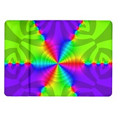 Complex Beauties Color Line Tie Purple Green Light Samsung Galaxy Tab 10 1  P7500 Flip Case by Alisyart