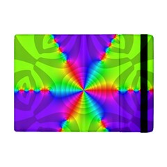 Complex Beauties Color Line Tie Purple Green Light Ipad Mini 2 Flip Cases