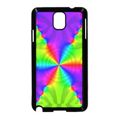 Complex Beauties Color Line Tie Purple Green Light Samsung Galaxy Note 3 Neo Hardshell Case (black) by Alisyart