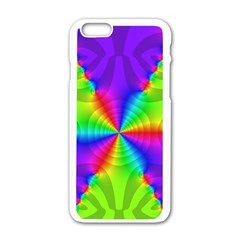 Complex Beauties Color Line Tie Purple Green Light Apple Iphone 6/6s White Enamel Case by Alisyart