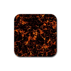 Fiery Ground Rubber Coaster (square)  by Alisyart
