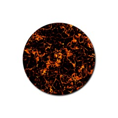 Fiery Ground Rubber Coaster (round)  by Alisyart