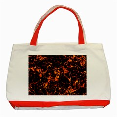 Fiery Ground Classic Tote Bag (red) by Alisyart