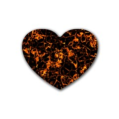 Fiery Ground Rubber Coaster (heart)  by Alisyart