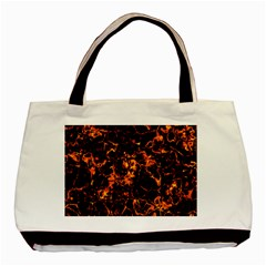 Fiery Ground Basic Tote Bag (two Sides) by Alisyart