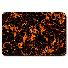Fiery Ground Large Doormat  by Alisyart