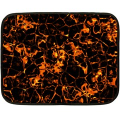 Fiery Ground Fleece Blanket (mini) by Alisyart