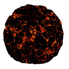 Fiery Ground Large 18  Premium Round Cushions by Alisyart
