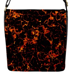 Fiery Ground Flap Messenger Bag (s) by Alisyart