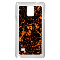 Fiery Ground Samsung Galaxy Note 4 Case (white) by Alisyart