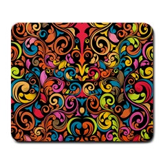 Chisel Carving Leaf Flower Color Rainbow Large Mousepads by Alisyart