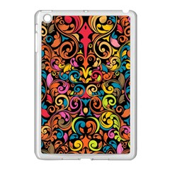 Chisel Carving Leaf Flower Color Rainbow Apple Ipad Mini Case (white) by Alisyart