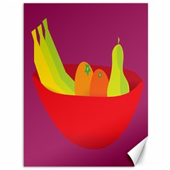 Fruitbowl Llustrations Fruit Banana Orange Guava Canvas 36  X 48