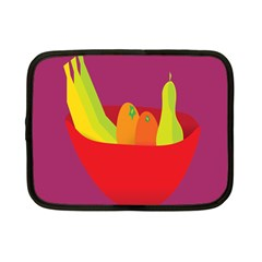 Fruitbowl Llustrations Fruit Banana Orange Guava Netbook Case (small)