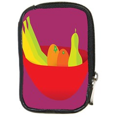 Fruitbowl Llustrations Fruit Banana Orange Guava Compact Camera Cases by Alisyart