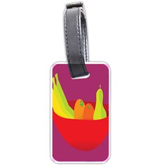 Fruitbowl Llustrations Fruit Banana Orange Guava Luggage Tags (one Side)