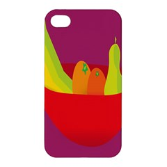 Fruitbowl Llustrations Fruit Banana Orange Guava Apple Iphone 4/4s Hardshell Case by Alisyart