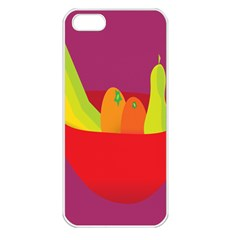 Fruitbowl Llustrations Fruit Banana Orange Guava Apple Iphone 5 Seamless Case (white) by Alisyart