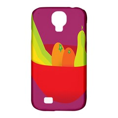 Fruitbowl Llustrations Fruit Banana Orange Guava Samsung Galaxy S4 Classic Hardshell Case (pc+silicone) by Alisyart