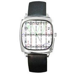 Formula Line Hubbard Model Applied Exist Square Metal Watch