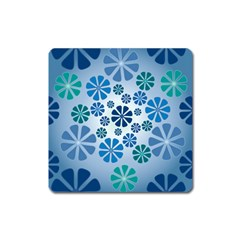 Geometric Flower Stair Square Magnet