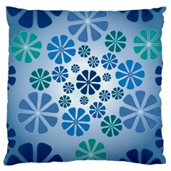 Geometric Flower Stair Large Cushion Case (two Sides)