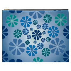 Geometric Flower Stair Cosmetic Bag (xxxl)