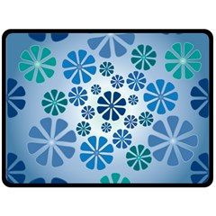 Geometric Flower Stair Double Sided Fleece Blanket (large)