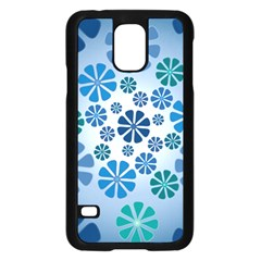 Geometric Flower Stair Samsung Galaxy S5 Case (black) by Alisyart