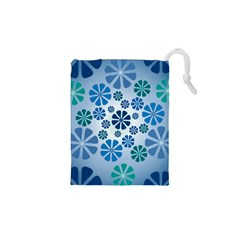 Geometric Flower Stair Drawstring Pouches (xs)