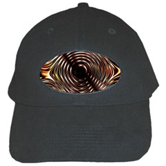 Gold Waves Circles Water Wave Circle Rings Black Cap by Alisyart