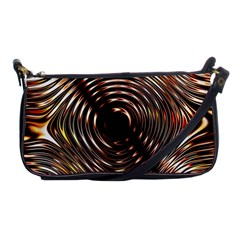Gold Waves Circles Water Wave Circle Rings Shoulder Clutch Bags