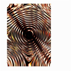 Gold Waves Circles Water Wave Circle Rings Large Garden Flag (two Sides) by Alisyart