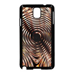 Gold Waves Circles Water Wave Circle Rings Samsung Galaxy Note 3 Neo Hardshell Case (black)