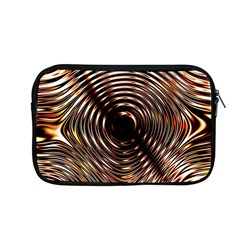 Gold Waves Circles Water Wave Circle Rings Apple Macbook Pro 13  Zipper Case by Alisyart