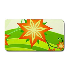 Graphics Summer Flower Floral Sunflower Star Orange Green Yellow Medium Bar Mats by Alisyart